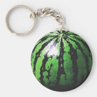 eine große Wassermelone Schlüsselanhänger