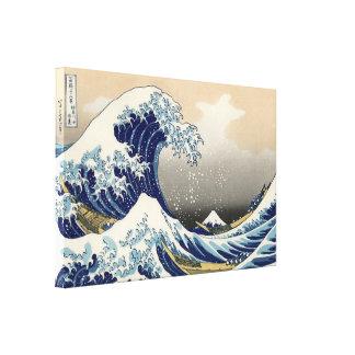 Eine große Welle weg von Kanagawa durch Hokusai Leinwanddrucke