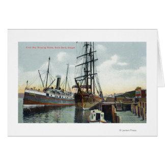 Eine Gurren-Bucht-Verschiffen-Szene am Dock Grußkarte