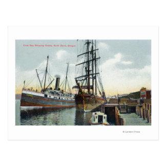 Eine Gurren-Bucht-Verschiffen-Szene am Dock Postkarte