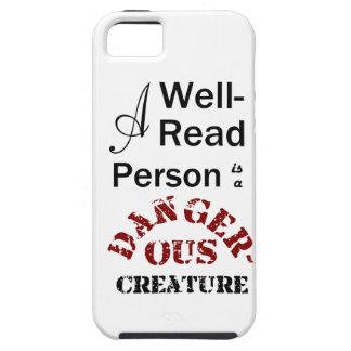 Eine Gut-Lesenperson ist ein gefährliches Geschöpf Tough iPhone 5 Hülle
