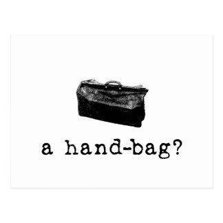 Eine Handtasche? Postkarte