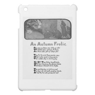 Eine Herbst-Scherz-Gedicht-und Katzen-Grafik iPad Mini Hüllen