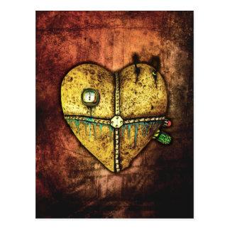 Eine Herz-weniger defekte gotische Kunst-Postkarte Postkarte