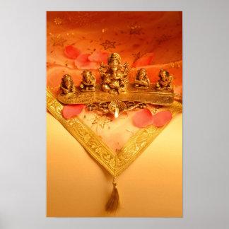 Eine indische Lampe mit Ganesha Idol Poster
