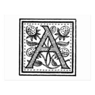 Eine Initiale von einem Mönch der Pfeife Postkarte