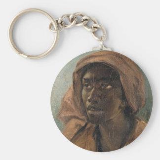 Eine junge Schwarze-Frau Schlüsselanhänger