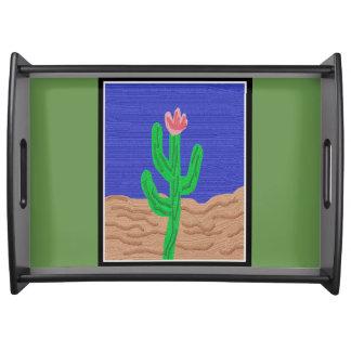 Eine Kaktus-Blume Tablett