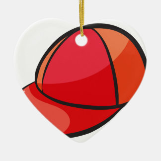 eine Kappe Keramik Herz-Ornament