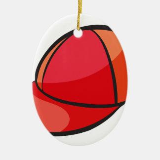 eine Kappe Ovales Keramik Ornament