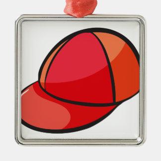 eine Kappe Quadratisches Silberfarbenes Ornament