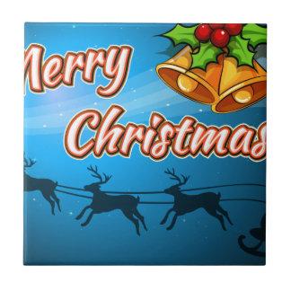 Eine Karte der frohen Weihnachten Keramikfliese