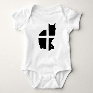 Eine Katze mit der kornischen Flagge Baby Strampler