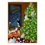 Eine katzenartige Familien-Weihnachtskarte Grußkarte