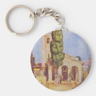 Eine Kirche bei Cagnes durch Pierre-Auguste Renoir Schlüsselanhänger