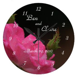 Eine Knockoout Rosen-Uhr 4386 - fertigen Sie Große Wanduhr