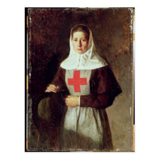 Eine Krankenschwester, 1886 Postkarte
