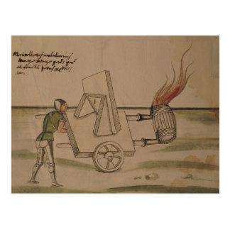 Eine Kriegsmaschine, Illustration von 'De Postkarte