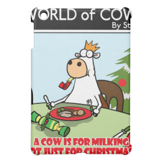 Eine Kuh ist für das Melken nicht gerade für iPad Mini Hülle