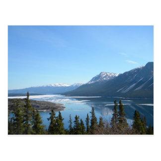 Eine landschaftliche Ansicht in Skagway, Alaska Postkarte