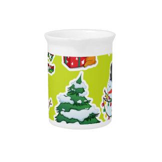 Eine leere Schablone für Weihnachten Getränke Pitcher
