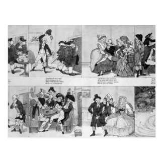 Eine Lektion für Spendthrifts durch Dr. Johnson, Postkarte