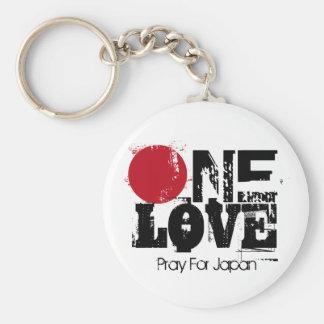 Eine Liebe - beten Sie für Japan Schlüssel-Kette Schlüsselanhänger