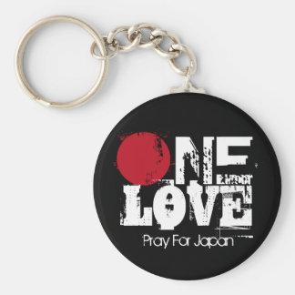 Eine Liebe - beten Sie für Japan Schlüssel-Kette Standard Runder Schlüsselanhänger