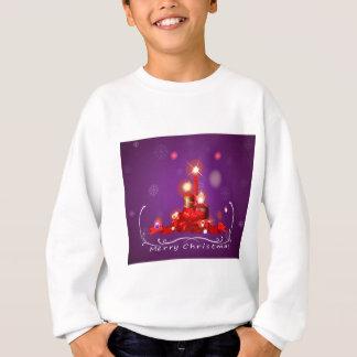 Eine lila Weihnachtskarte mit Rot beleuchtete Sweatshirt