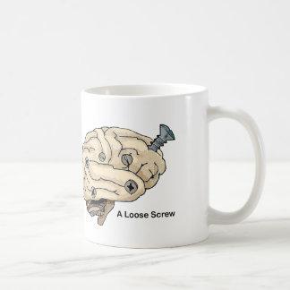 Eine lose Schraube Kaffeetasse