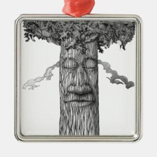 Eine Mächtig-Tre-Abdeckung-B&W Silbernes Ornament