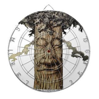 Eine mächtige Baum-Abdeckung Dartscheibe
