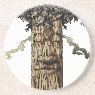 Eine mächtige Baum-Abdeckung Sandstein Untersetzer
