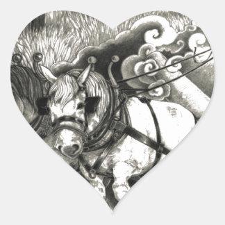 Eine MÄCHTIGE BAUM Seite 14 Herz-Aufkleber