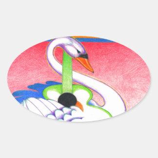 Eine MÄCHTIGE BAUM Seite 28 Ovaler Aufkleber