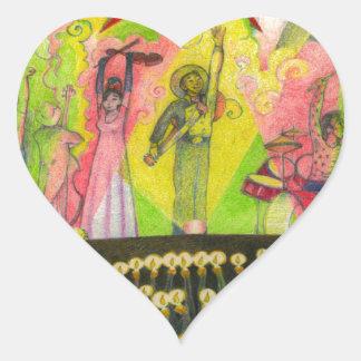 Eine MÄCHTIGE BAUM Seite 34 Herz-Aufkleber