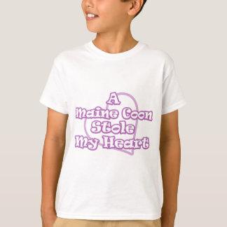 Eine Maine-Waschbär-Stola mein Herz T-Shirt