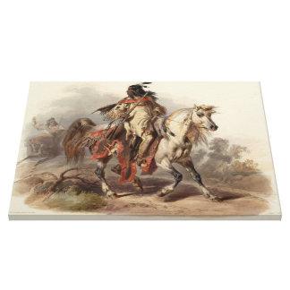 Eine Malerei vom Leben einer Blackfoot Leinwanddruck