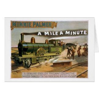 """""""Eine Meile ein winziges"""" Vintages Karte"""