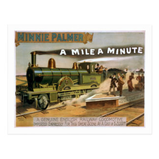 """""""Eine Meile eine winzige"""" Vintage Postkarte"""