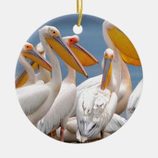 Eine Menge der Pelikane Rundes Keramik Ornament