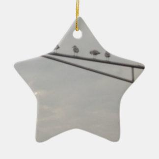 Eine Menge der Seemöwen Keramik Stern-Ornament