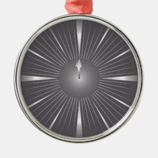 eine Minute Silbernes Ornament