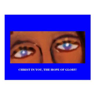 EINE MITTEILUNG VOM GOTT (CHRISTUS IN IHNEN) POSTKARTE