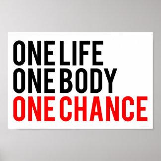 Eine Möglichkeit des Leben-eins des Körper-einer Plakat