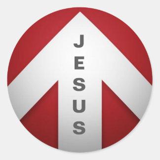 Eine Möglichkeit - Jesus Runder Aufkleber