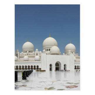 Eine Moschee in Abu Dhabi Postkarte