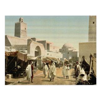 Eine Moschee in der Hauptstraße, Kairwan, Tunesien Postkarte