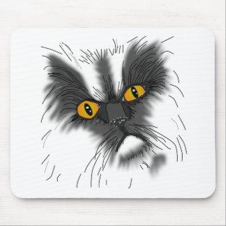 Eine mürrische Katze nicht alle hier Mousepads