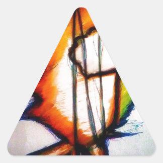 Eine Musik, die Sie euch fühlen und sehen können Dreieckiger Aufkleber